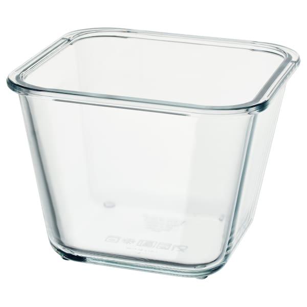 IKEA 365+ Contenitore, quadrato/vetro, 1.2 l