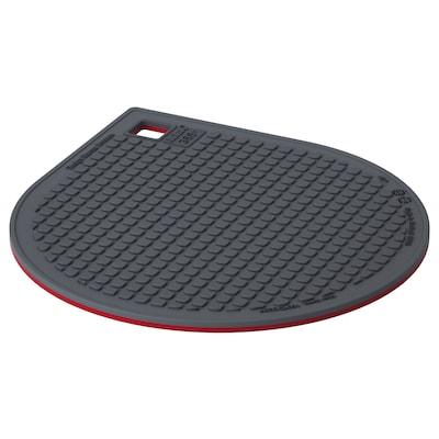 IKEA 365+ GUNSTIG Sottopentola con calamita, rosso/grigio scuro