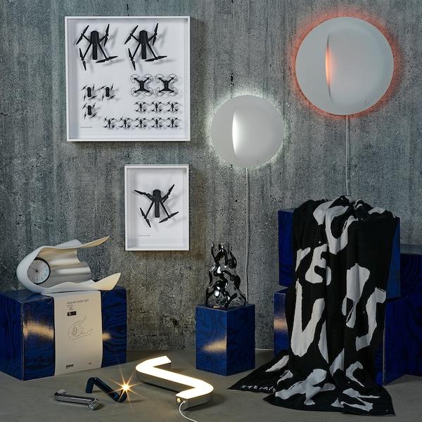 IKEA ART EVENT 2021 Plaid, nero/bianco, 130x160 cm