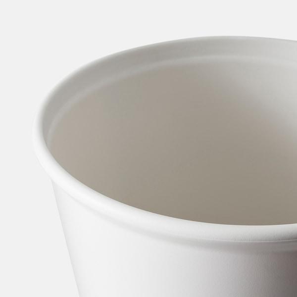 IKEA PS FEJÖ Vaso a riserva d'acqua, bianco, 32 cm