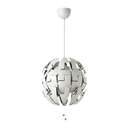 Ikea ps 2014 lampada a sospensione bianco color argento for Ikea lampade da scrivania