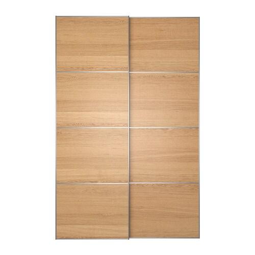 Ilseng coppia di ante scorrevoli 150x236 cm ikea for Ikea ante scorrevoli