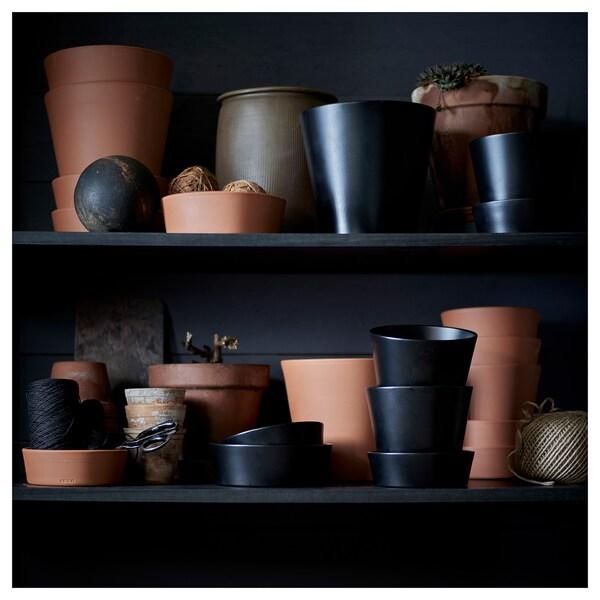 INGEFÄRA Vaso con sottovaso, da esterno/terracotta, 12 cm