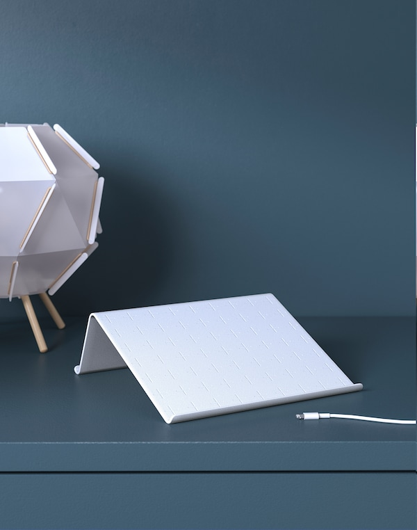 ISBERGET Supporto per tablet, bianco, 25x25 cm