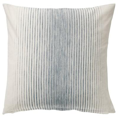 ISPIGG Fodera per cuscino, blu/naturale, 50x50 cm