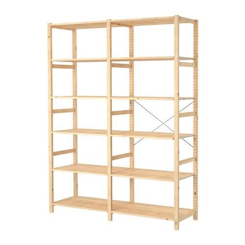 Ivar 2 sezioni ripiani ikea for Ikea scaffali ivar