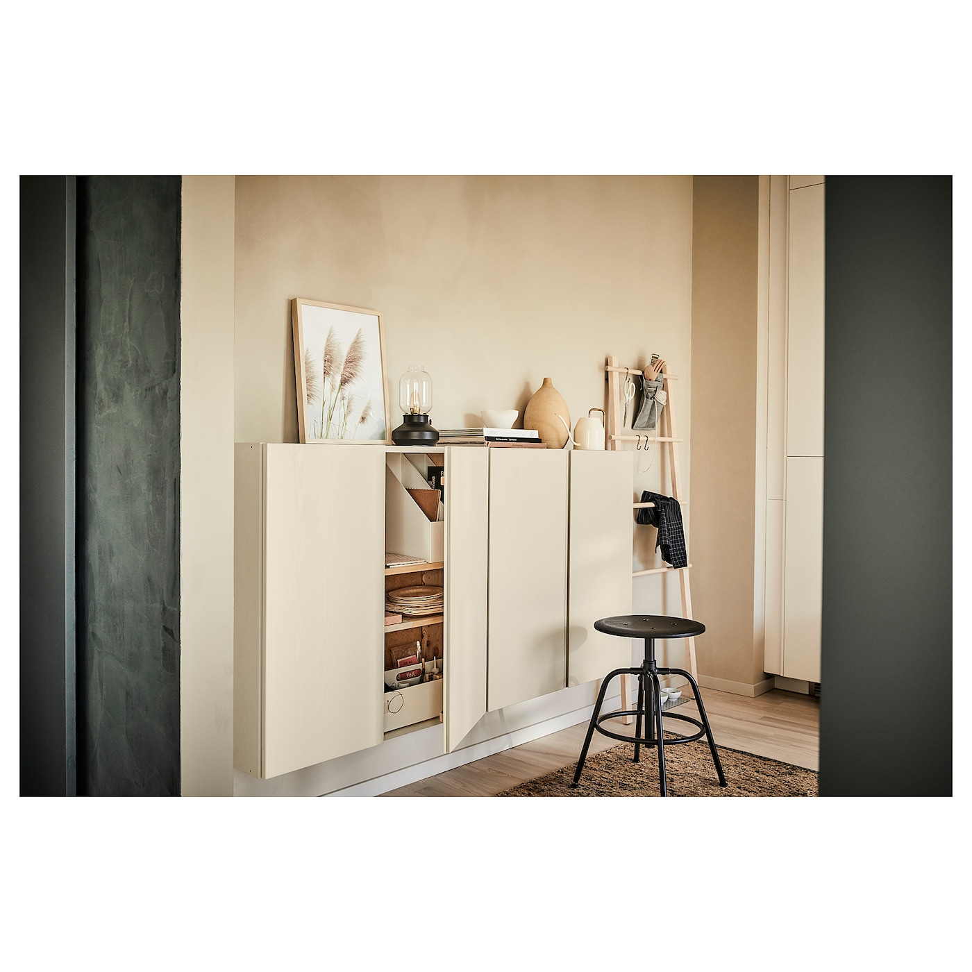 Ikea Scaffali Legno Ivar ivar mobile - pino 80x30x83 cm