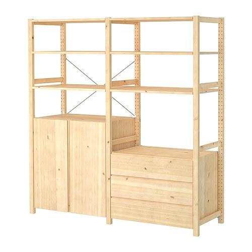 Ivar 2 sezioni ripiani mobile cassapanca ikea - Scaffali in legno ikea ...