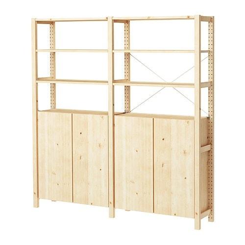 Ivar 2 sezioni ripiani mobile ikea - Scaffali in legno ikea ...