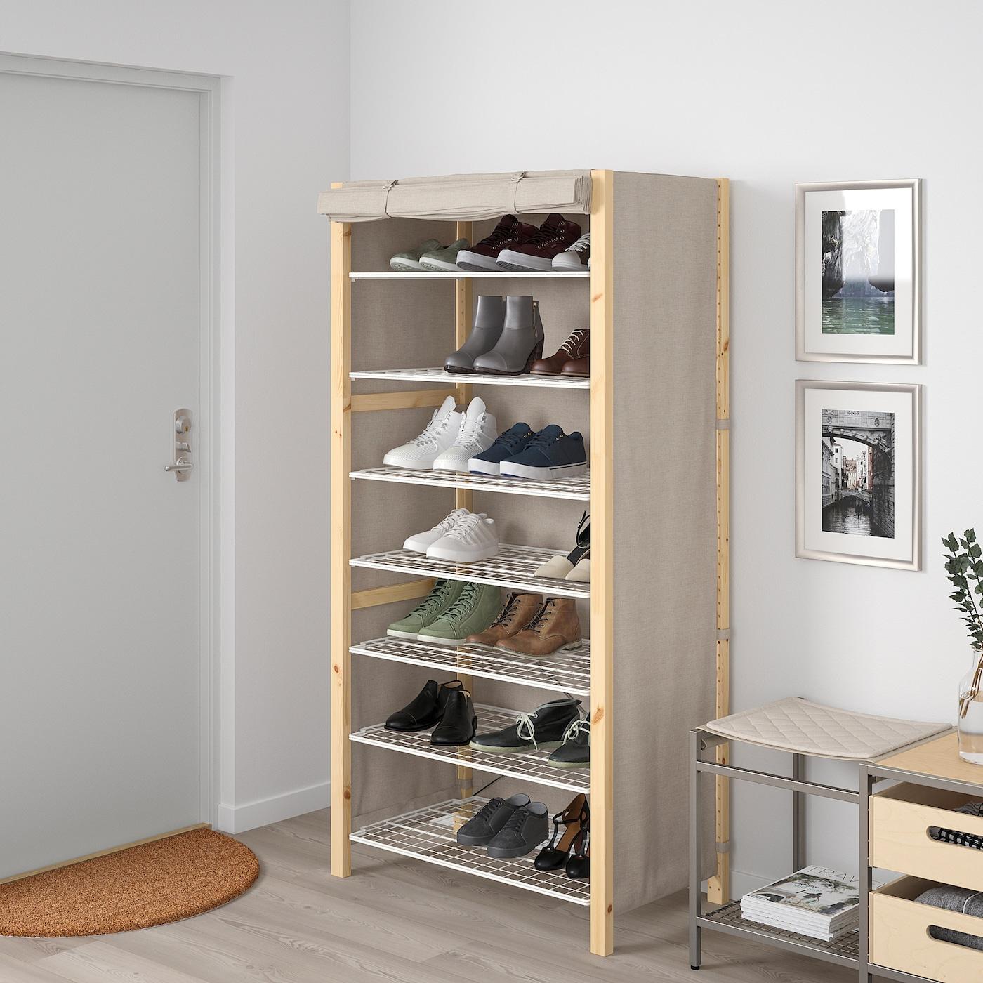 Ikea Scaffali Legno Ivar ivar scaffale con fodera 89x50x179 cm