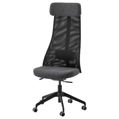 JÄRVFJÄLLET sedia da ufficio Gunnared grigio scuro 110 kg 68 cm 68 cm 140 cm 52 cm 46 cm 45 cm 56 cm