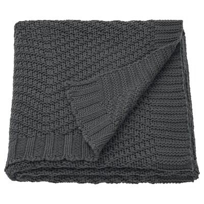 JENNYANN Plaid, grigio scuro, 130x170 cm