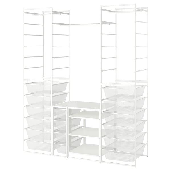 JONAXEL Strut/cest in rete/bast appen/scaff, bianco, 173x51x207 cm