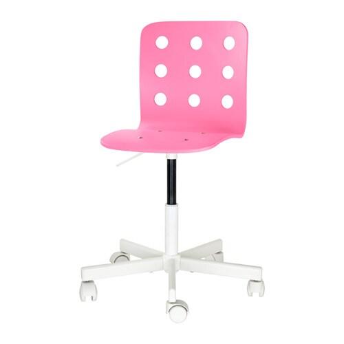 JULES Sedia da scrivania - rosa/bianco, - - IKEA