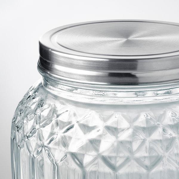 KALASFINT dispenser con rubinetto vetro trasparente 21 cm 25 cm 3 l