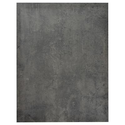 KALHYTTAN Rivestimento laterale, grigio scuro effetto cemento, 62x80 cm