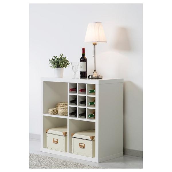 KALLAX Divisorio per bottiglie, bianco, 33x33 cm