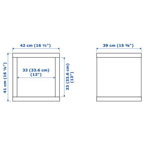 KALLAX Scaffale, bianco, 42x42 cm