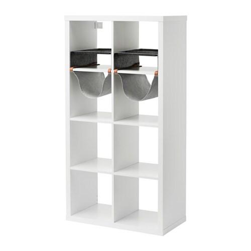 Kallax scaffale con 4 accessori ikea for Kallax scaffale