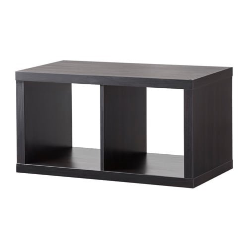 kallax scaffale marrone nero ikea. Black Bedroom Furniture Sets. Home Design Ideas
