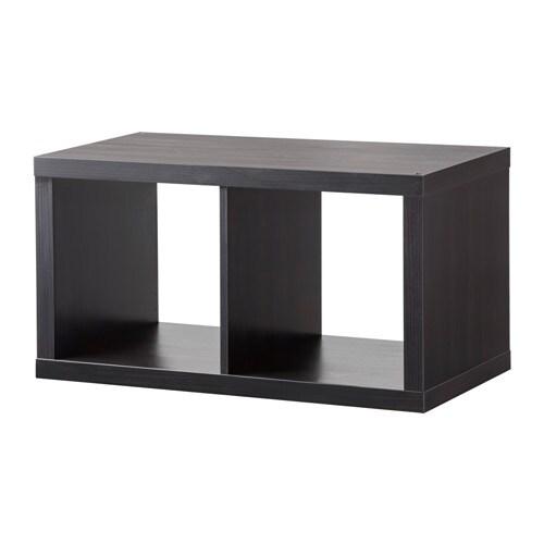 Kallax scaffale marrone nero ikea for Libreria cubi ikea
