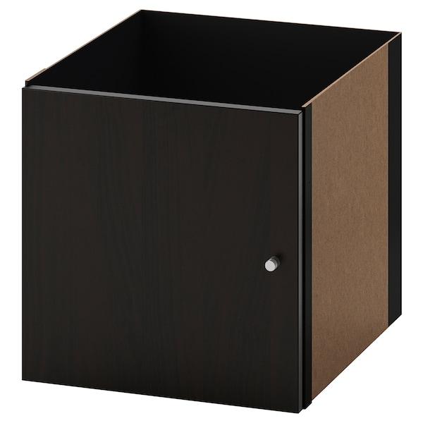 KALLAX Struttura interna con anta, marrone-nero, 33x33 cm