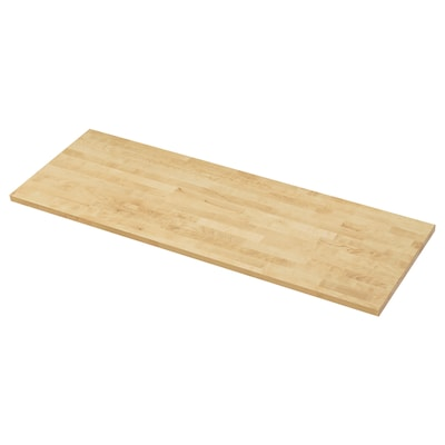 KARLBY Piano di lavoro, betulla/impiallacciatura, 186x3.8 cm