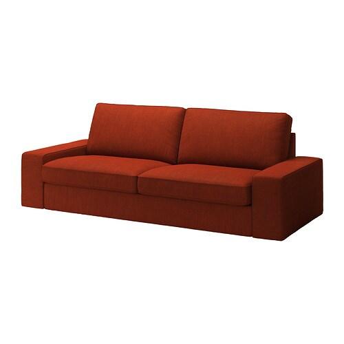KIVIK Divano a 3 posti - Isunda arancione - IKEA