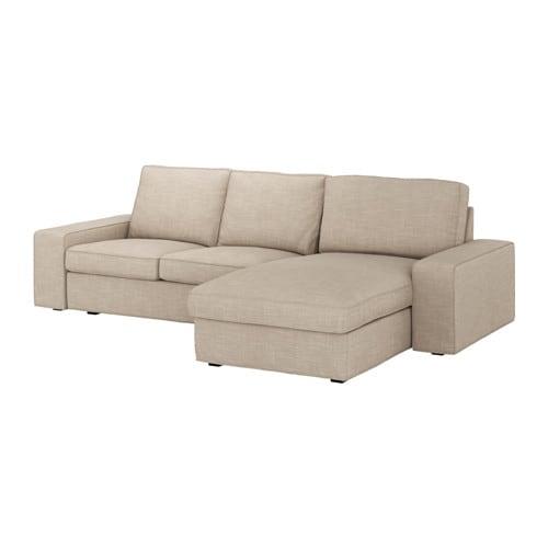 Kivik divano a 3 posti con chaise longue hillared beige for Divano ikea 3 posti