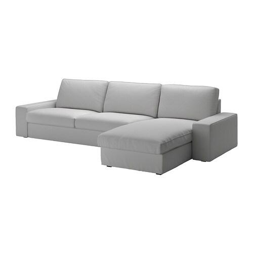 Kivik divano a 3 posti e chaise longue orrsta grigio chiaro ikea - Divano kivik ikea opinioni ...