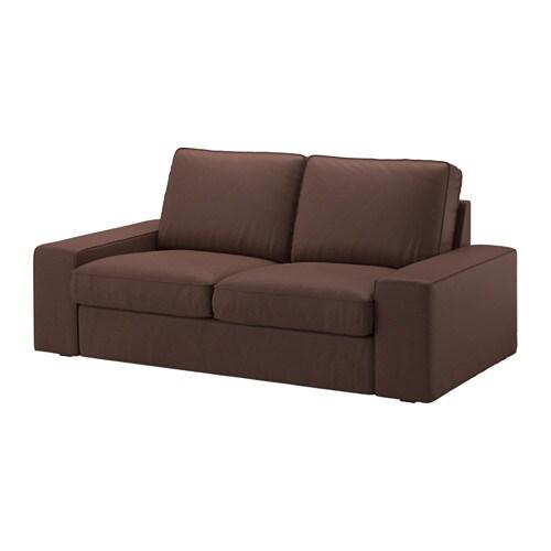 Kivik divano a 2 posti borred marrone scuro ikea for Ikea divano kivik