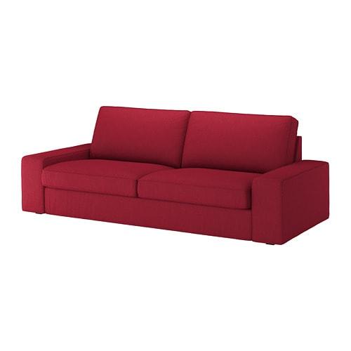 Kivik divano a 3 posti orrsta rosso ikea for Divano ikea 3 posti