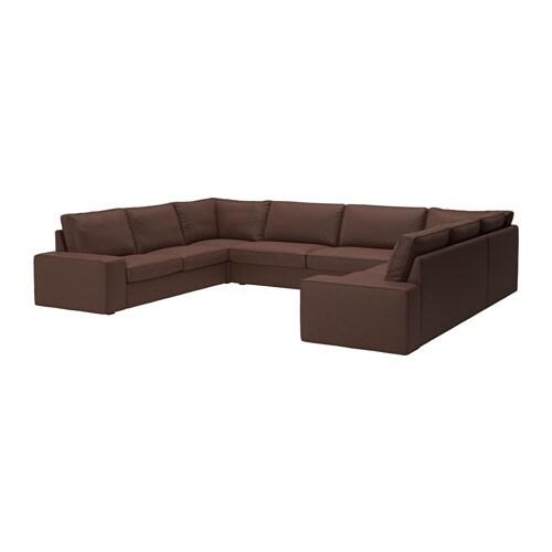 KIVIK Divano a U a 7 posti - 9 posti/Orrsta grigio chiaro - IKEA