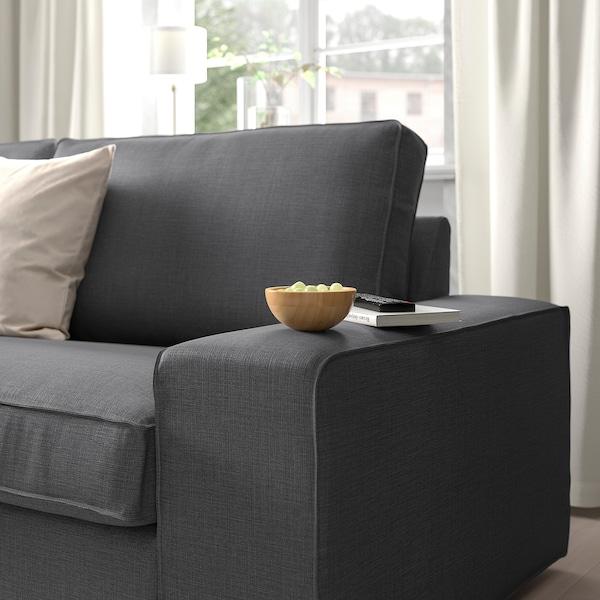 KIVIK Divano angolare a 5 posti, con chaise-longue/Skiftebo grigio scuro