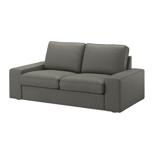 KIVIK Fodera per divano a 2 posti - Borred grigio-verde - IKEA