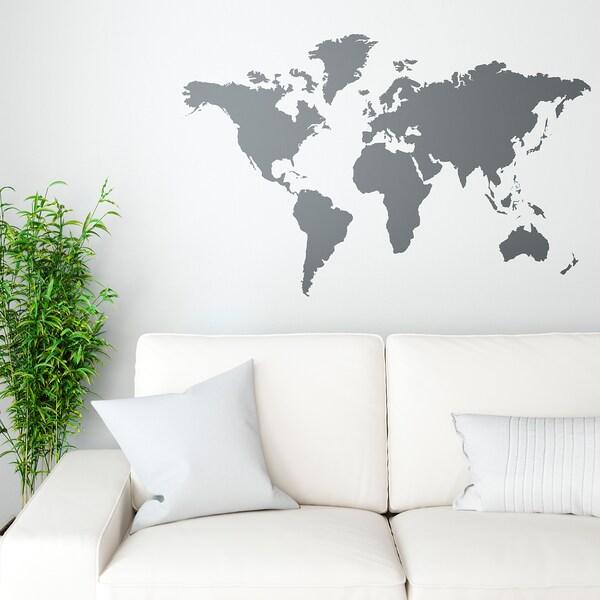 Adesivi Murali Cucina Ikea.Klatta Decorazione Autoadesiva Mondo Lavagna Ikea