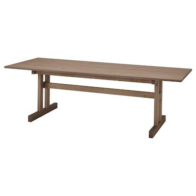 KLIMPFJÄLL Tavolo, grigio tortora, 240x95 cm