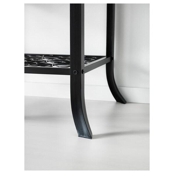KLINGSBO vetrina nero/vetro trasparente 45 cm 40 cm 180 cm 7 kg