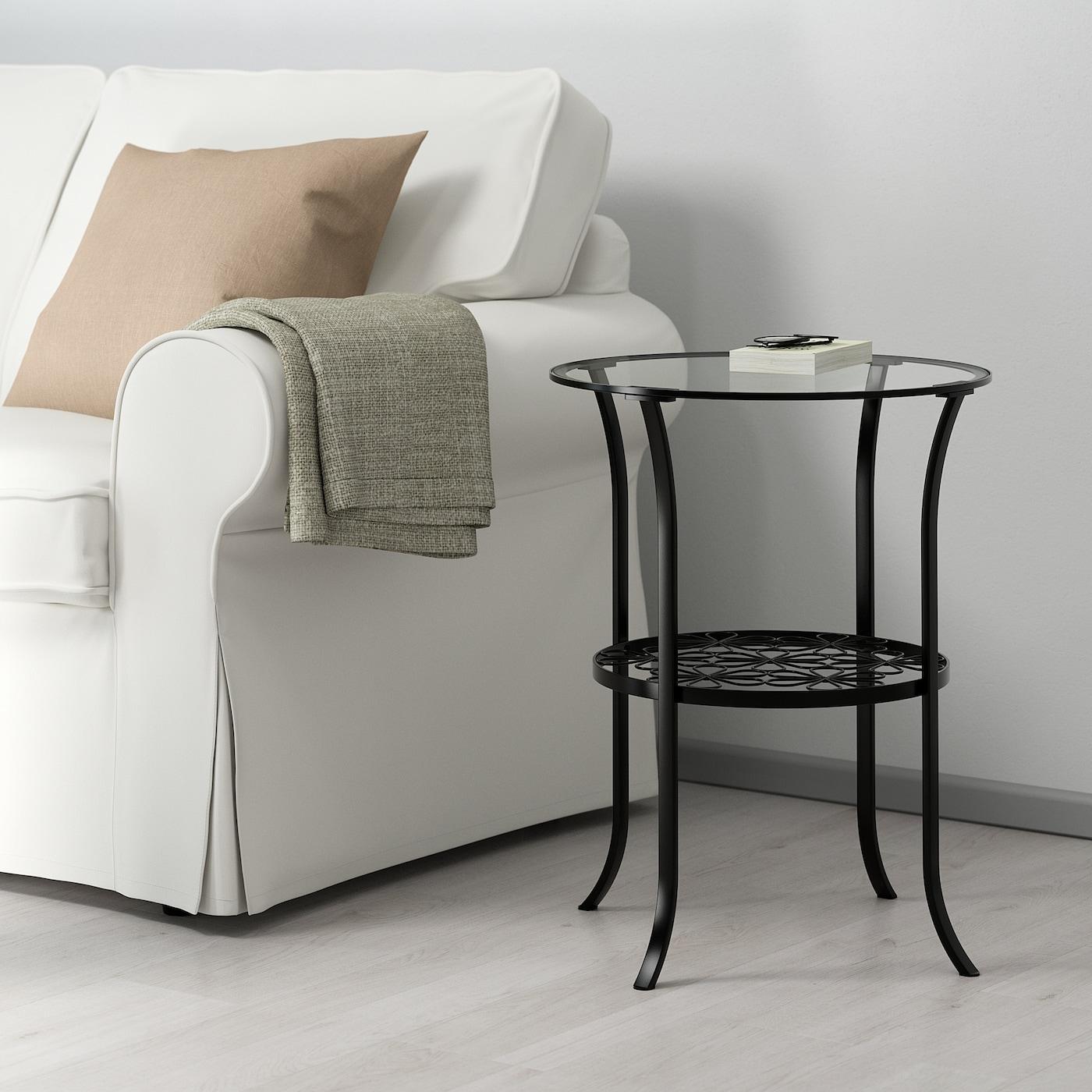 Tavolino Che Diventa Tavolo Ikea klingsbo tavolino - nero, vetro trasparente 49x62 cm