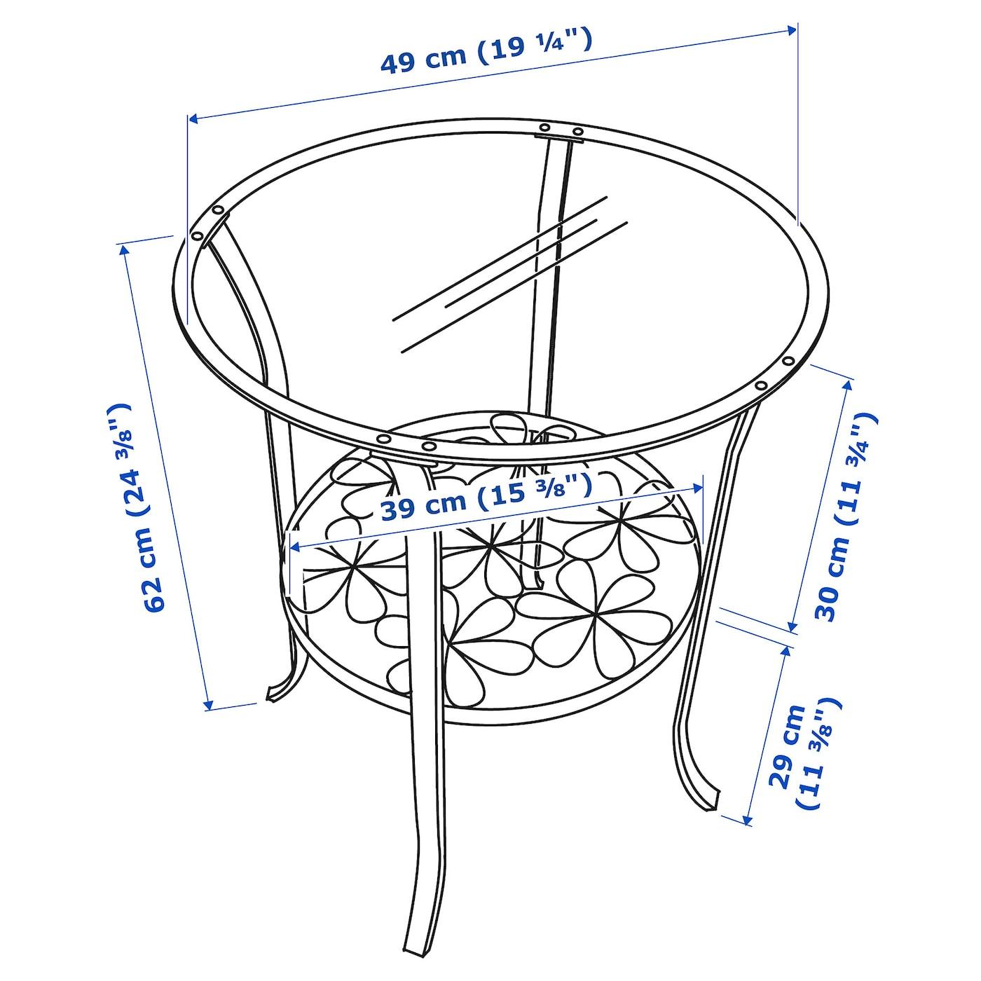 Vetro Trasparente IKEA. Nero 201.285.64 Klingsbo Tavolino