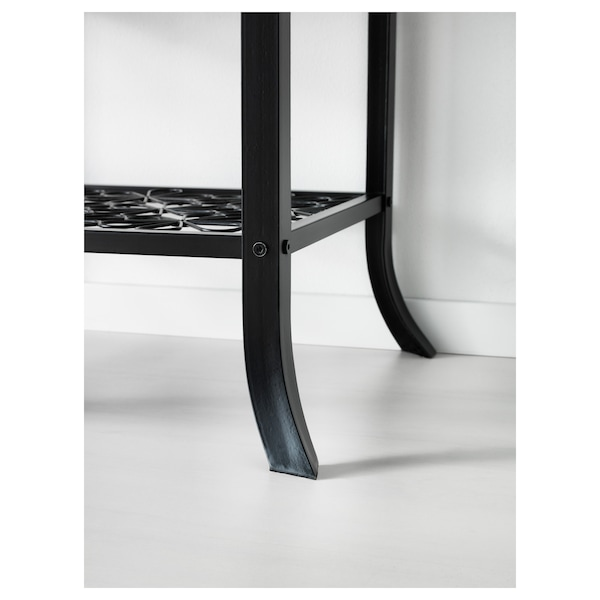 KLINGSBO Vetrina, nero/vetro trasparente, 45x180 cm