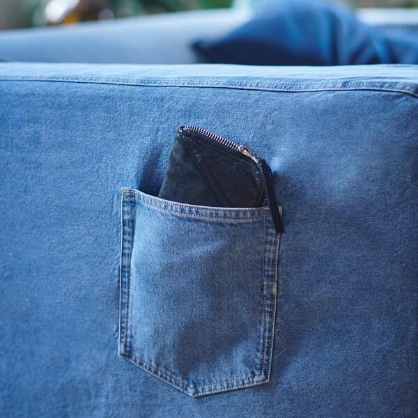 KLIPPAN Fodera per divano a 2 posti, azzurro