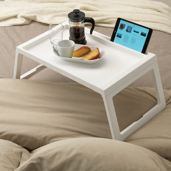 Tavolino Da Letto.Klipsk Vassoio Da Letto Bianco Ikea