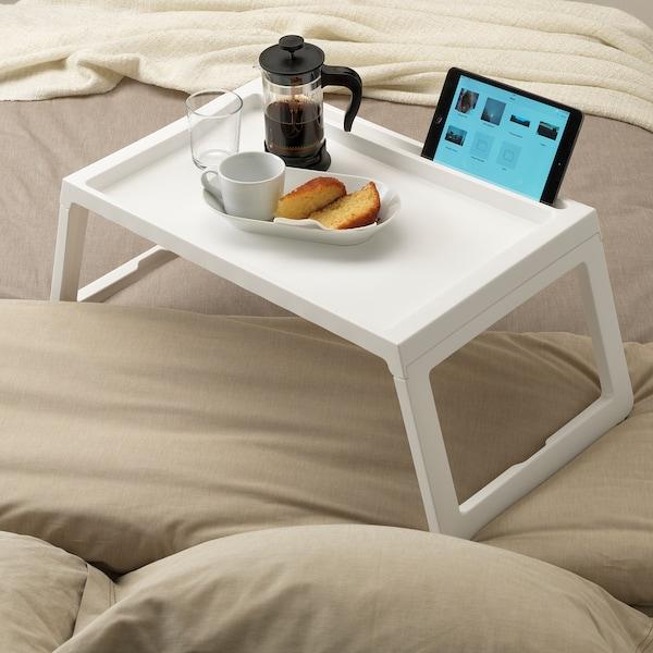 KLIPSK Vassoio da letto, bianco