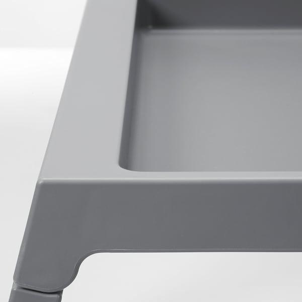 KLIPSK Vassoio da letto, grigio