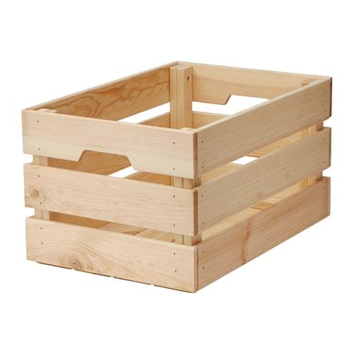 Knagglig contenitore ikea for Cassette di legno ikea