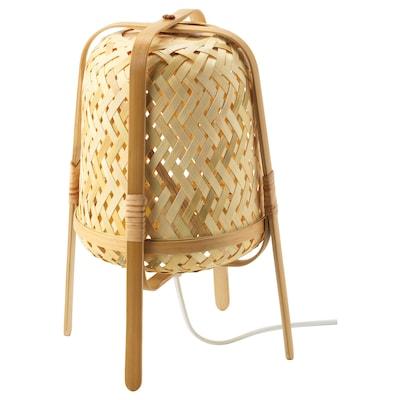 KNIXHULT Lampada da tavolo, bambù/fatto a mano