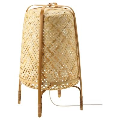 KNIXHULT Lampada da terra, bambù/fatto a mano