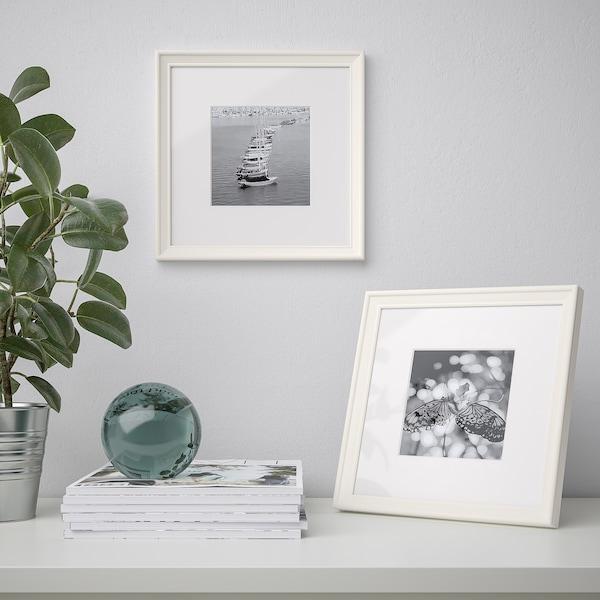 KNOPPÄNG Cornice, bianco, 23x23 cm