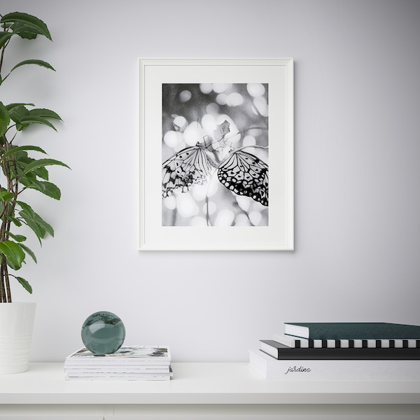 KNOPPÄNG Cornice, bianco, 40x50 cm